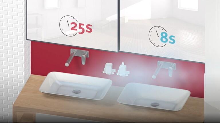 Infografika - predhriaty výmenník teplej vody