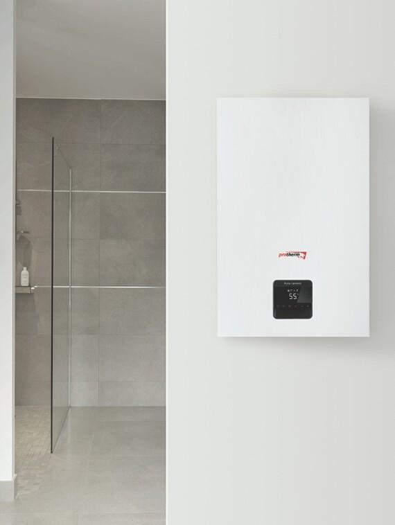 Plynový kondenzačný kotol Puma Condens v kúpeľni