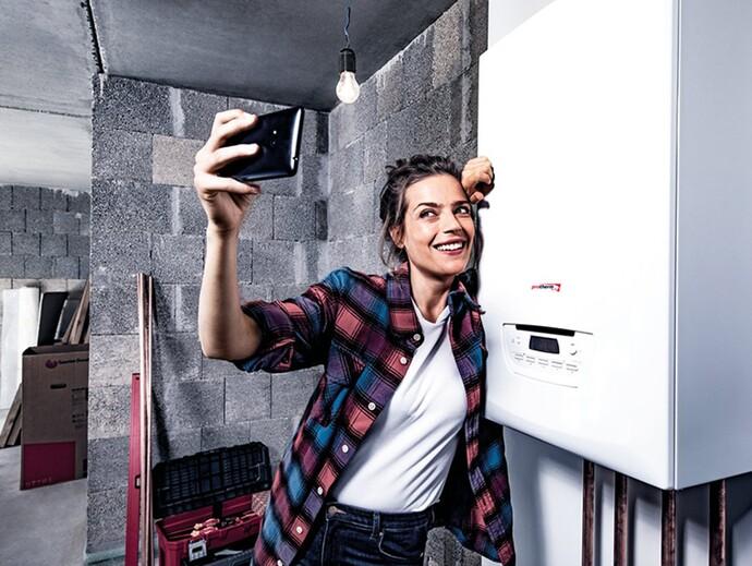 Selfie s novým kotlom